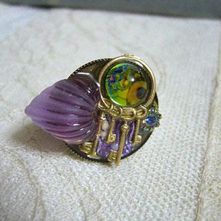 ジェリーカラーの指輪・鍵束*Luna Antique*