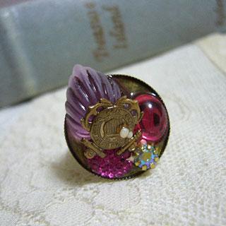 ジェリーカラーの指輪・紋章*Luna Antique*