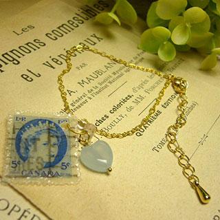 ブレスレット・青の女王とハート *Luna Antique*