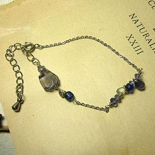 青い雨の花束ブレスレット *Luna Antique*