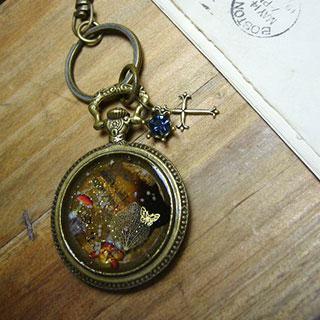 懐中時計風キーリング *Luna Antique*