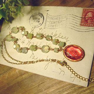 メロンと苺のネックレス *Luna Antique*