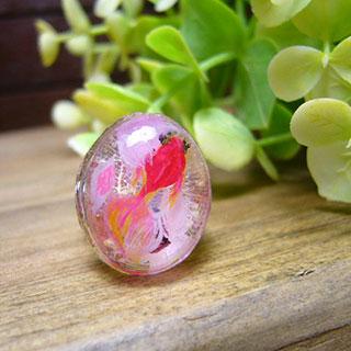 赤い金魚の指輪 *Luna Antique*