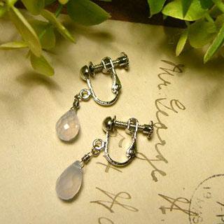 柔らかな雨音と雫のイヤリング *Luna Antique*