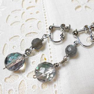 海の揺らめきイヤリング *Luna Antique*