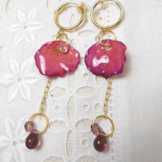 薔薇としずくのイヤリング *Luna Antique*
