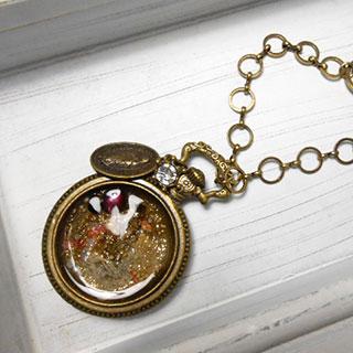 懐中時計のバッグチャーム *Luna Antique*