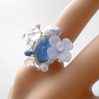 聖なる泉の魔法の指輪「フローレ」 *Luna Antique*