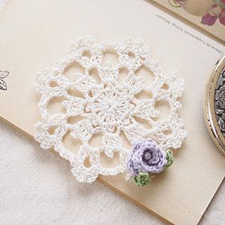 小さなドイリー プチローズ lavender * Mederu