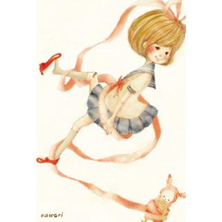 ポストカード【赤い靴】*merry life