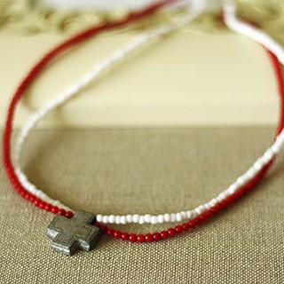 赤い珊瑚のネックレス *Miaou 626*
