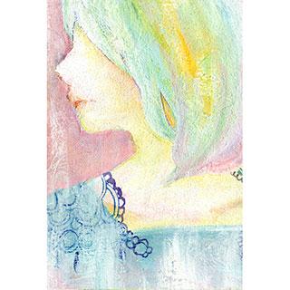 ポストカード【横顔】*mitico*