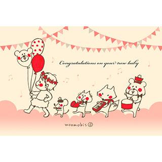 ポストカード【出産祝い】* monmobis