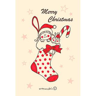 ポストカード【Merry Christmas】* monmobis
