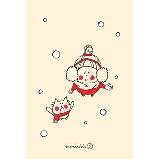 ポストカード【初雪】* monmobis