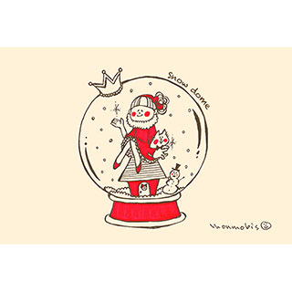 ポストカード【snow dome】* monmobis