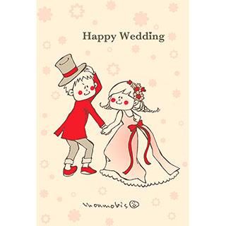 ポストカード【Happy Wedding】* monmobis