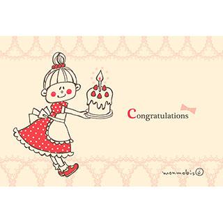 ポストカード【congratulations】* monmobis