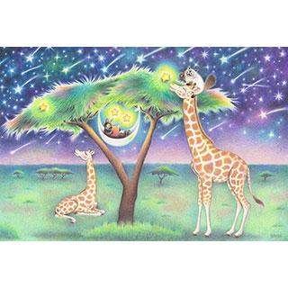 ポストカード【星のランプ】* ネコヤ