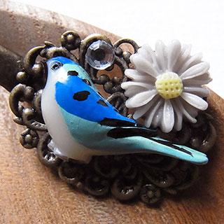 青い鳥のフィグリークリップ * nico_yuk*