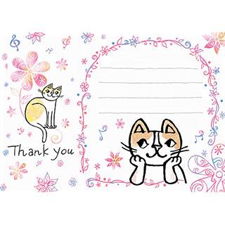 ポストカード【感謝の言葉をつたえます。】* おかべてつろう