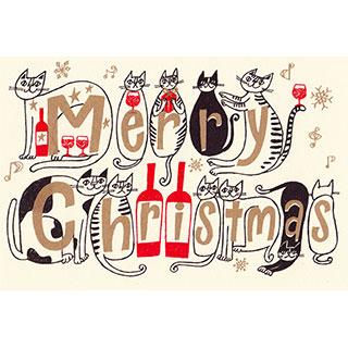 クリスマスカード【今年もがんばったみんなに、メリークリスマス!】* おかべてつろう<img class='new_mark_img2' src='https://img.shop-pro.jp/img/new/icons7.gif' style='border:none;display:inline;margin:0px;padding:0px;width:auto;' />