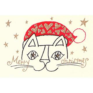 クリスマスカード【笑顔で過ごす、メリークリスマス!】* おかべてつろう<img class='new_mark_img2' src='https://img.shop-pro.jp/img/new/icons7.gif' style='border:none;display:inline;margin:0px;padding:0px;width:auto;' />