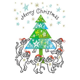 クリスマスカード【こころつながる、メリークリスマス!】* おかべてつろう
