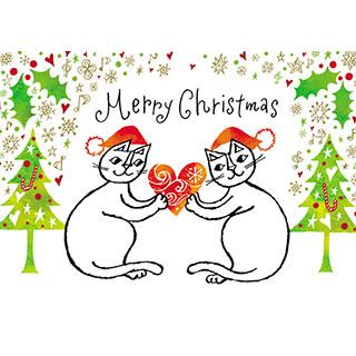 クリスマスカード【たいせつなあなたへ、メリークリスマス!】* おかべてつろう