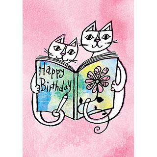 ポストカード【Happy Birthday! きみの物語の始まりの日。】* おかべてつろう
