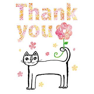 ポストカード【Thank you あなたがいてくれてよかった。】* おかべてつろう