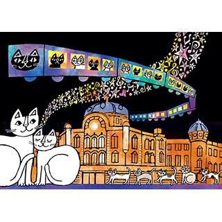 ポストカード【TOKYO NEKO STATION】* おかべてつろう