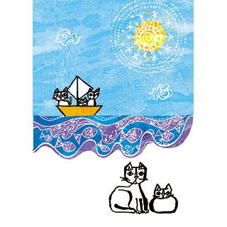 ポストカード【あの海にまたいきたい】*おかべてつろう