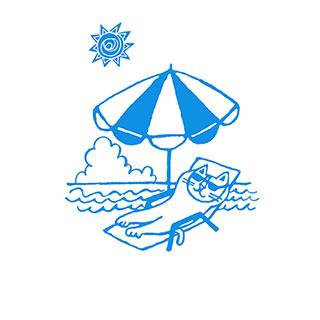 ポストカード【やっぱり、海はいいな。】* おかべてつろう