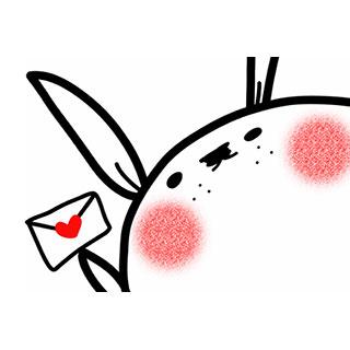 ポストカード【ウサギ】*穏