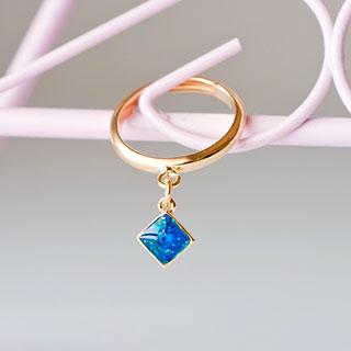 ダイヤの指輪 (ブルー) * ragazza gemelli
