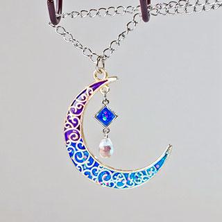 月の雫のネックレス (ブルー) * ragazza gemelli