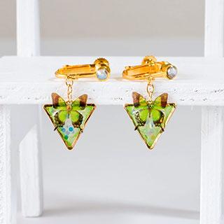 緑蝶のイヤリング * ragazza gemelli