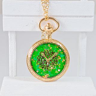 緑の懐中時計 * ragazza gemelli