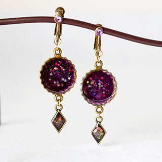 濃紫のイヤリング * ragazza gemelli