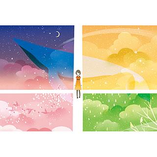 ポストカード【季節の交差点】* raindrop