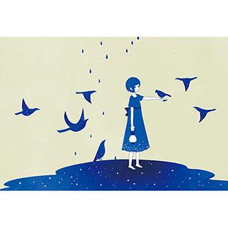 ポストカード【群青】* raindrop