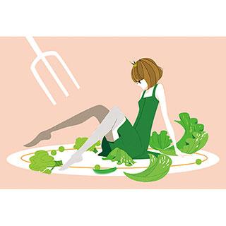 ポストカード【サラダガール】* raindrop