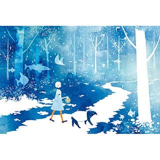 ポストカード【森の中】* raindrop