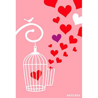 ポストカード【ハートの鳥かご】*RiCOLETA