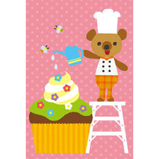 ポストカード【パティシエくま/カップケーキ】*RiCOLETA