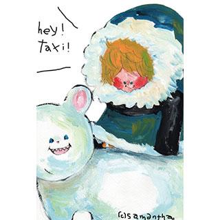 ポストカード【taxi】*samantha