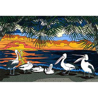 ポストカード【Pelican sunrise】* seri