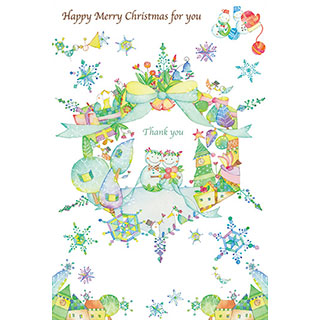 ポストカード【スノーホワイトクリスマス】* 中島心