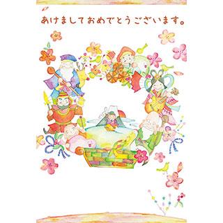 ポストカード【めでたすぎる七福神!】* 中島心